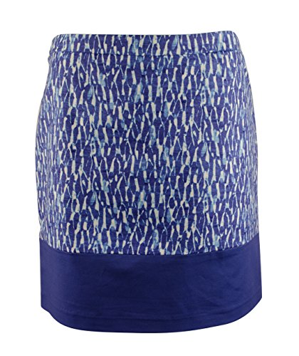 MICHAEL Michael Kors Womens Poplin Printed Mini Skirt Blue 8