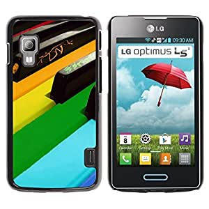 Graphic4You Colorful Music Piano Design Hard Case Cover for LG Optimus L5 II by ruishername