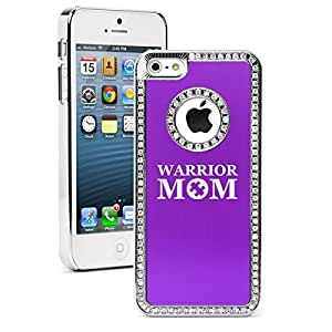 "Apple iPhone 6 Plus (5.5"") Rhinestone Crystal Bling Hard Case Cover Warrior Mom Autism (Purple)"