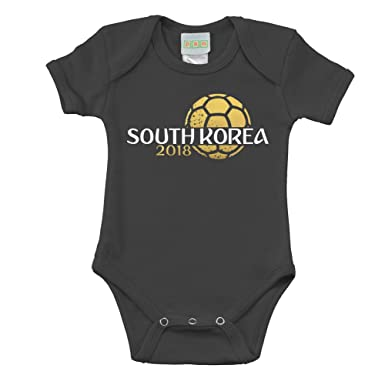 0ab5f43bdc4 Amazon.com  Pam GM South Korea Baby Boys Soccer Bodysuit 2018  Clothing
