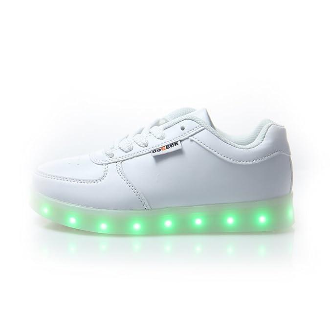 6de76b67164 DoGeek Zapatos Led Niños Niñas 7 Color USB Carga Deportivas De Luces  Zapatillas(Mejor Pedir una Talla más): Amazon.es: Zapatos y complementos