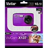 Vivitar VX137-PUR 10.1MP Digital Touch Screen Camera with 1.8-Inch LCD Screen - Body Only (Purple)