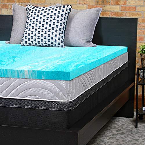 Sealy Essentials 2-Inch Gel Memory Foam Mattress Topper 5 YR Warranty, Queen (Bed Foam Mattress Memory Topper)