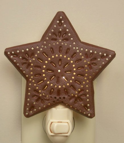 Country Punched Red Star Night Light ()