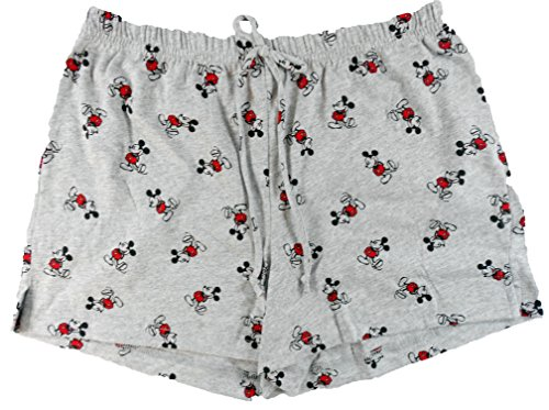 Disney Womens Retro Old School Mickey Mouse Shorts (Large 11/13) ()