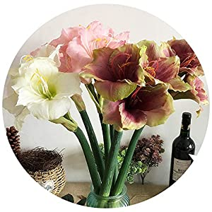 Chibi-store Luxury Real Touch Soft Latex Large Amaryllis Artificial Flowers Home Wedding Decorations Flores 96