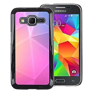 Red-Dwarf Colour Printing Polygon Art Purple Pink Yellow Lines - cáscara Funda Case Caso de plástico para Samsung Galaxy Core Prime SM-G360