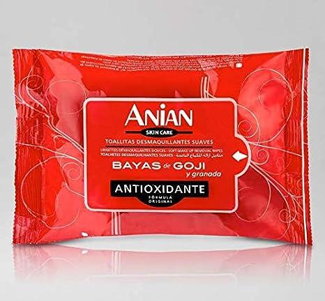Toallitas Desmaquillantes Anian Bayas de Goji y Granada (3 packs
