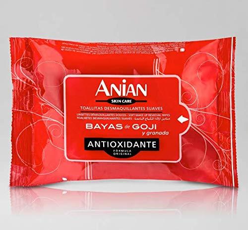 3X1!! Toallitas Desmaquillantes Anian Bayas de Goji y Granada (3 ...