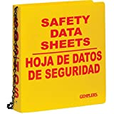 GEMPLER'S Heavy Duty GHS Compliance Binder Only for Safety Data Sheets, English, 2-1/2'' Binder for up to 500 Pages, 8-1/2'' x 11, Safety Yellow