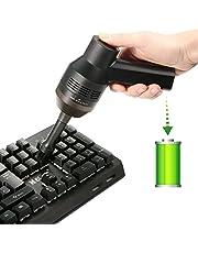 Aspirador Teclado MECO Mini Aspirador Inalámbrico de Mano Recargable con Li-batería Aspirador Portátil de Alta Aspiración para Teclado Portátil PC de Escritorio TV Satélite DVD