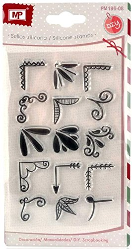 MP PM196-08 - Sellos para scrapbooking, transparente