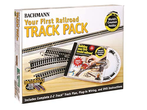 Bachmann Trains Snap-Fit E-Z TRACK WORLD'S GREATEST HOBBY FIRST RAILROAD TRACK PACK - NICKEL SILVER Rail With Grey Roadbed - HO Scale from Bachmann Trains