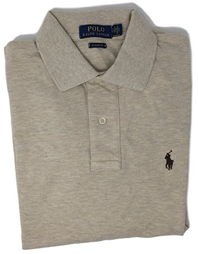 (Polo Ralph Lauren Classic Fit Mesh Pony Logo Polo Shirt , Medium , Dune Tan 7106)