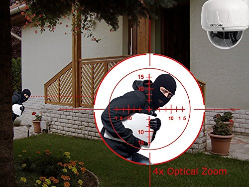 Dericam Outdoor Wifi Ip Security Camera Ptz Camera 4x