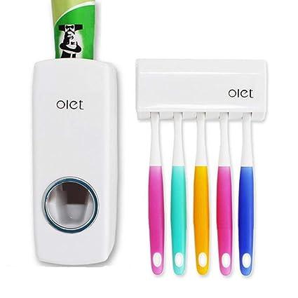 Umei dispensador de pasta de dientes automático y soporte para cepillo 5,