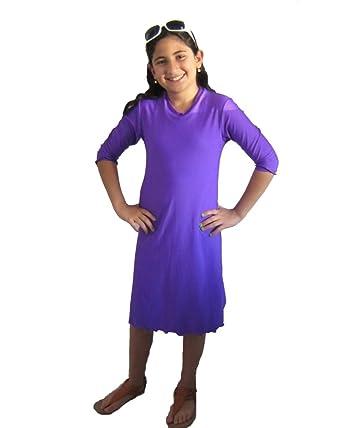 5d434b5ef37ba Amazon.com: Aqua Modesta® Modest Girls Swim Dress/ Cover Ups-Orange ...