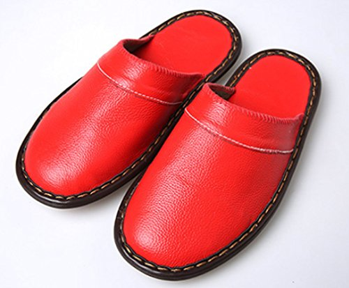 Cattior Womens Indoor Outdoor Slippers Leather Slippers Red Yosq9HRn