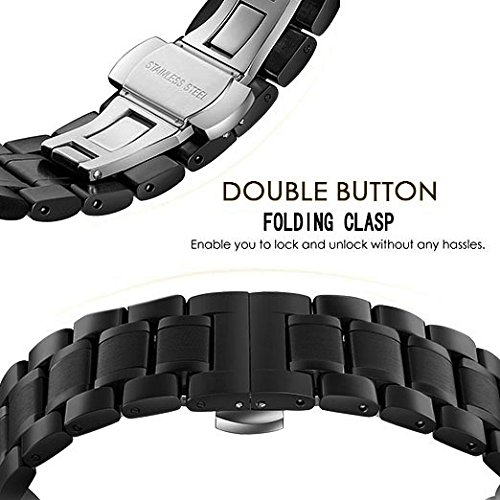 Amazon.com: 24mm 22mm 20mm 18mm Watch Band, PluWatch Quick Release Premium Solid Stainless Steel Metal Business Replacement Bracelet Strap for Mens Womens ...