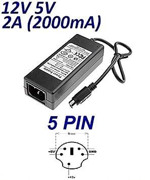 Cargador Corriente 12V 5V 2A 5 Pin Reemplazo Jentec ...