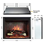 PuraFlame 33 Inches Western Electric Fireplace