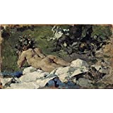 Canvas Prints Of Oil Painting ' Pinazo Camarlench Ignacio Desnudo 1888 ' , 10 x 18 inch / 25 x 44 cm , High Quality Polyster Canvas Is For Gifts And Bar, Garage And Powder Room Decoration, prints