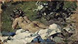 Perfect Effect Canvas ,the Imitations Art DecorativeCanvas Prints Of Oil Painting 'Pinazo Camarlench Ignacio Desnudo 1888 ', 20 X 35 Inch / 51 X 89 Cm Is Best For Powder Room Artwork And Home Artwork And Gifts