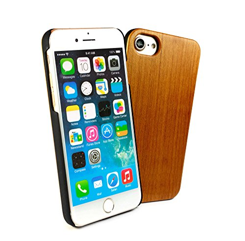 Tuff-Luv Genuine Cherry Holz Fall für Apple iPhone 6s / 7 - Braun