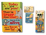 Dr. Seuss Oh the Places Youll Go School Supply Set - 6 Pencils, 1 Mini Notebook & Educational Sign (Dr. Seuss''Oh The Places You Will Go'' Pencil Set -''Who Is You-er Than You?'')