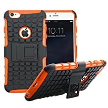JUZI iPhone 6 / iPhone 6S Case, Shell Holster Combo Protective Case [Kick-Stand] Armorbox Hybrid Dual Layer Full Body [Heavy Duty] Protection Protective Bumper Case for iPhone6 iPhone6S Orange
