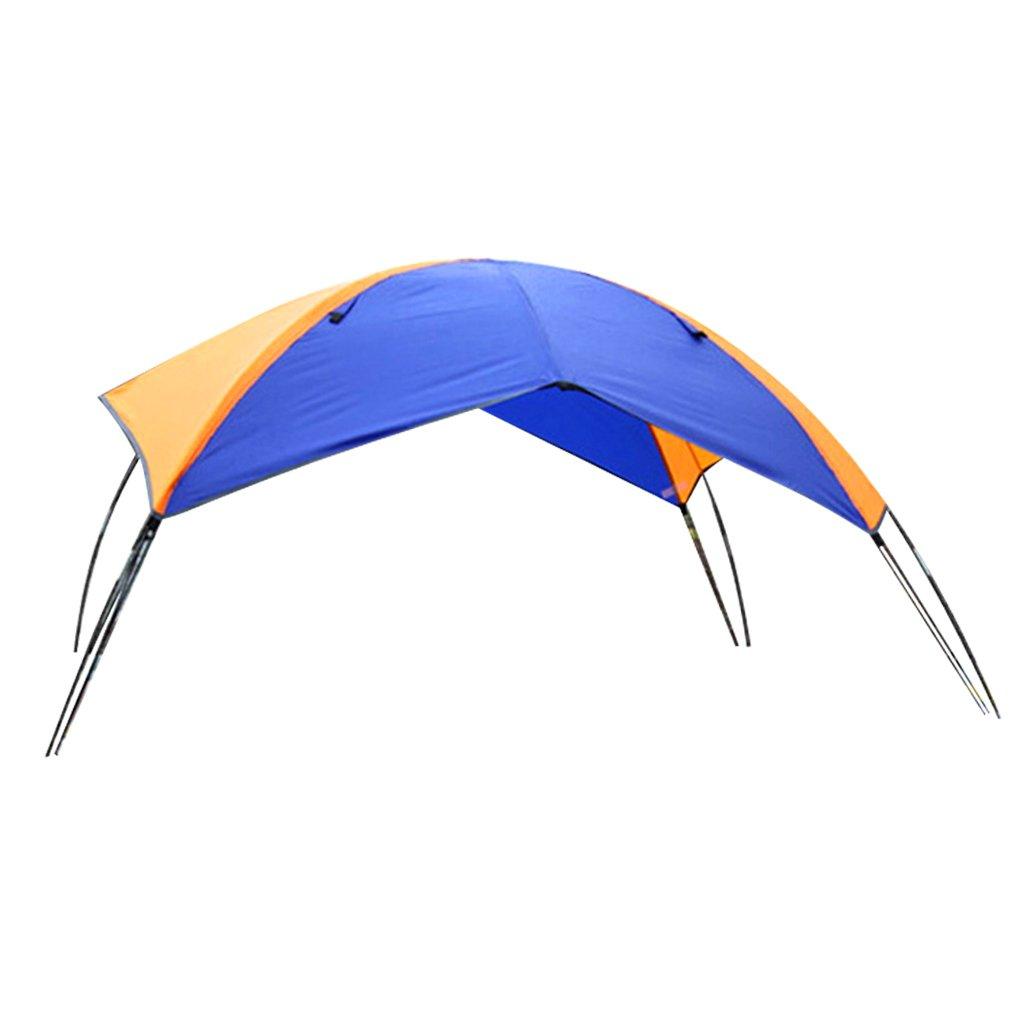 Sharplace Toldo para Barco Inflable Tienda para Pesca Color Azul y Naranja