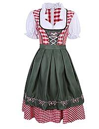 LanLan Women's German Mini Dirndl Oktoberfest Fancy Dress Ladies Costume