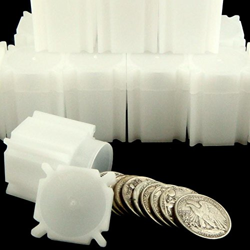 Square Half Dollar Coin Tubes (10 Pack)