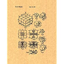"Rubik Cube Toy Patent Print Art Poster (8.5"" x 11"")"