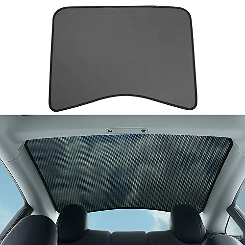 (BASENOR Tesla Model 3 Rear Glass Roof Sunshade Durable Polyester Mesh Shade Top Cover Provides Sun Protection for Tesla Model 3)