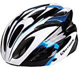 KUTOOK Bike Helmet Road Mountain Cycling Helmet for Adults (23″-24″; 58-62cm), Black White Blue