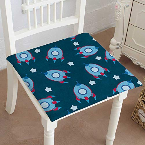 - Mikihome Chair Pads Classic Design Blue boyish Wallpaper Cotton Canvas Futon 32
