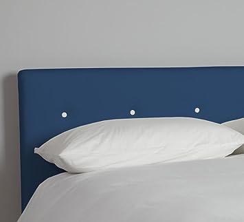 SUENOSZZZ - CABECERO Polka (Camas de 90cm) Chenilla Aura Color 14 Azul + 1 Blanco Medida:100x120 cms: Amazon.es: Hogar