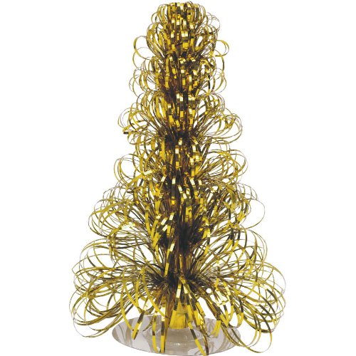 Gold Ribbon Strand Centerpiece 12 Inch