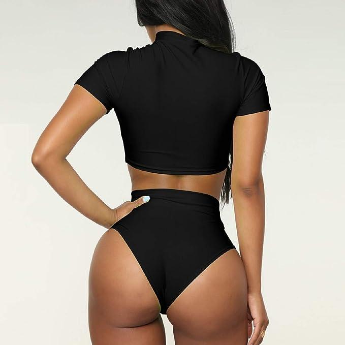 a7cd919f1a374 Amazon.com: OTINICE Women 2 Piece Push-Up Pad Bikini Swimsuit Set High  Waisted Sporty Swimwear Bathing Suit: Clothing