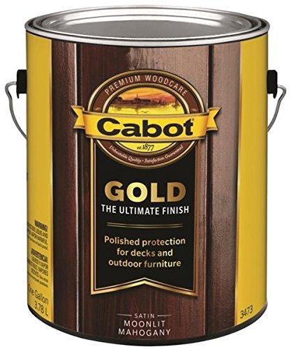 Mahogany Gallon - Cabot 140.0003473.007 Gold Deck Varnish, Gallon, Moonlit Mahogany