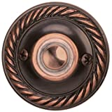Heath Zenith 871AC Classic Décor Wired Push Button, Solid Brass