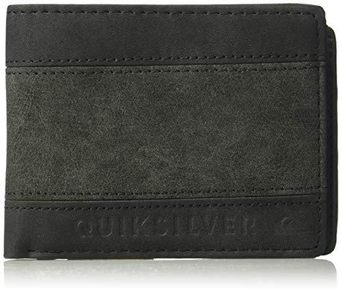 (Quiksilver Men's Supply Slim Trifold Wallet, Black, 1SZ)