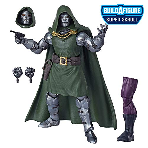 """Marvel Legends Series Fantastic Four 6"""" Collectible Action Figure Doctor Doom Toy, Premium Design, 4 Accessories, 1 Build-A-Figure Part from Marvel Classic"""