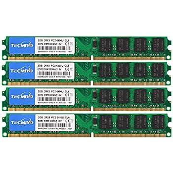 TECMIYO DDR2 PC2-6400 (240-Pin DIMM, 800MHZ), DDR2 Ram 8GB Kit (4X2GB) Desktop Memory RAM Modules