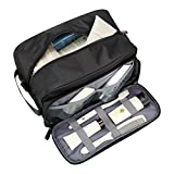 Travel Toiletry Bag Waterproof Bathroom Shower Bags with Hanging Hook Leak Proof Travel Essentials Packing Organizer Dopp Kit for Men Women Toiletry Accessories Cosmetics (Black Dopp Kit)