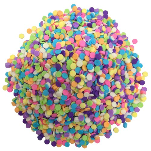 OliveNation Pastel Candy Quins - Colorful Toppings for All Kinds of Confections - Size of 1/2 lb