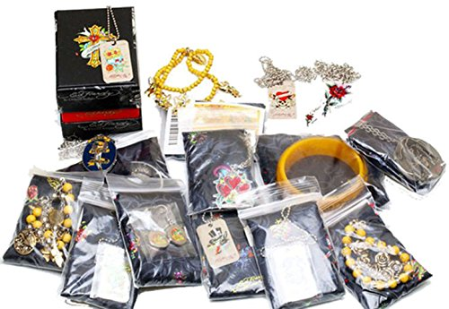 [ED HARDY WHOLESALE MIXED LOT OF JEWELRY ~ 10 pieces all w/ COA] (Wholesale Lot 10 Piece)