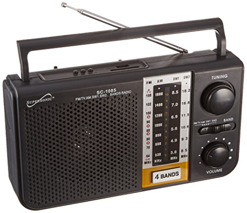 Supersonic SC-1085 5 Band AM/FM/SW1/SW2/TV Radio by Supersonic