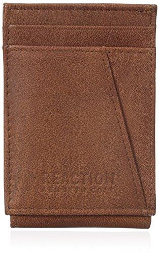 Kenneth Cole Reaction Mens Rfid Blocking Kevin Slim Front Pocket Wallet
